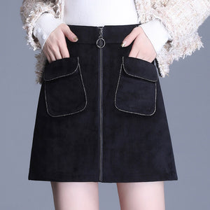 High Waist 2 Pocket Skirt