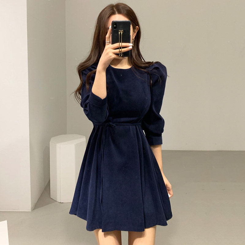 Niche Design French Waist Dress
