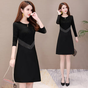 A19X Star Neck Light Luxury Dress