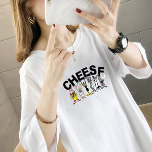 Cartoon Short-Sleeved Slim T-Shirt