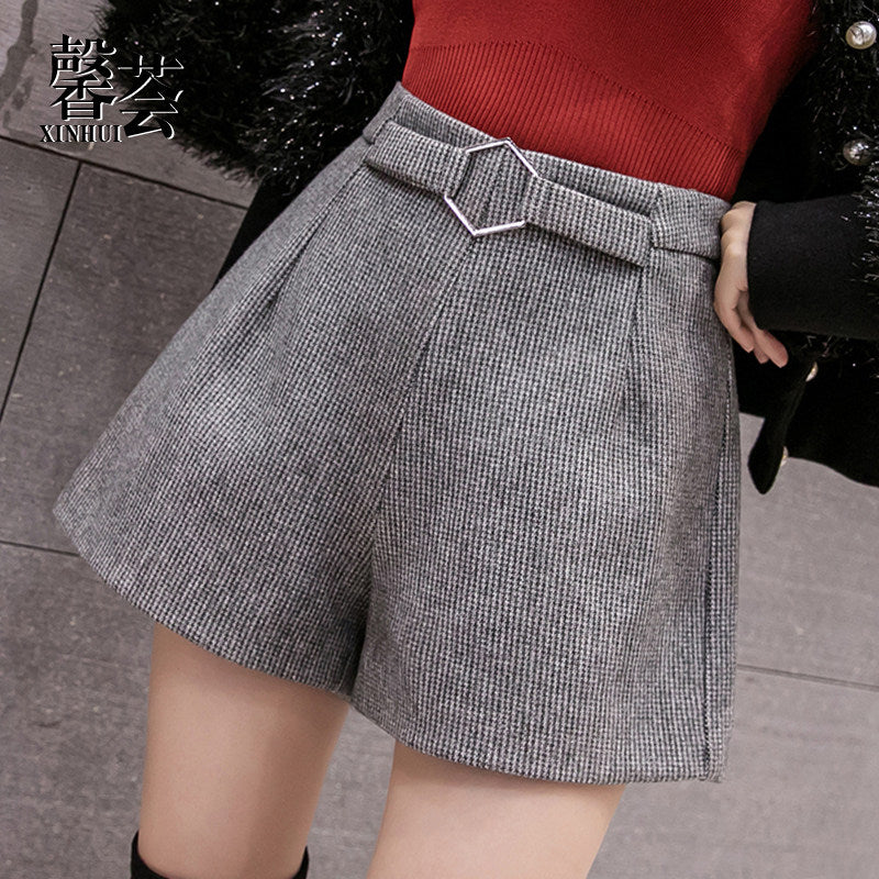 A22H Hairy high-waisted wide-leg Shorts Winter 2020