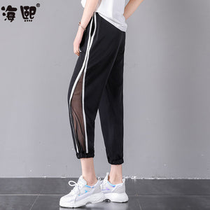 Sporty Stripes Capris-Bottoms-[korean fashion]-[korean clothing]-[korean style]-SOO・JIN