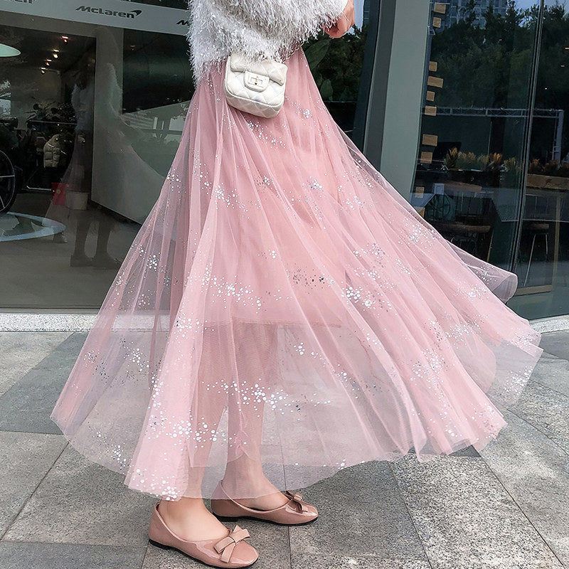 Mid-length Fairy Net Skirt