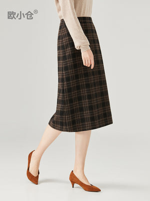 A18R Long Wool One-Step Skirt
