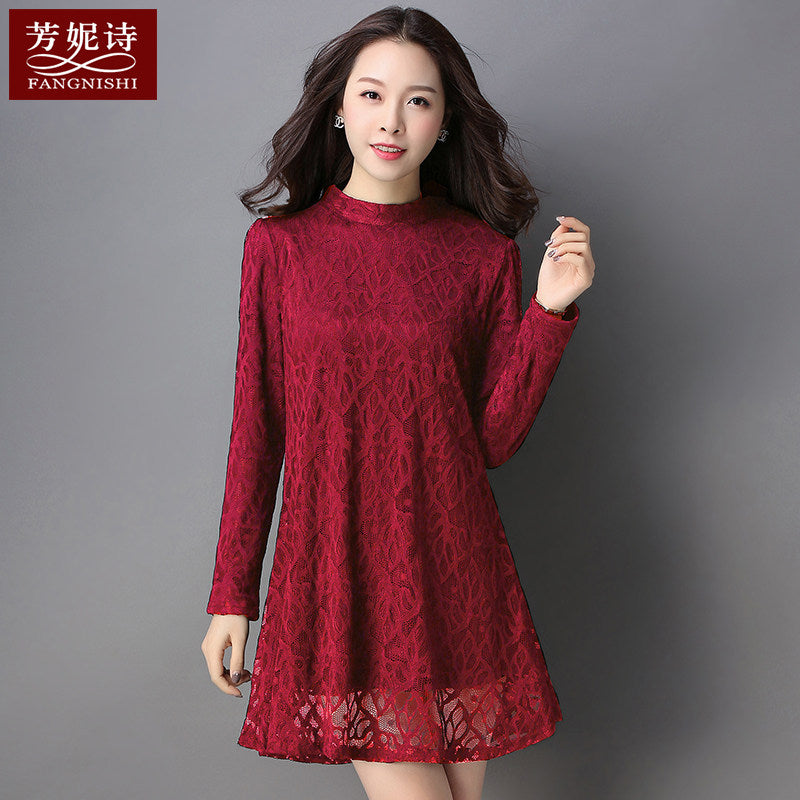 2019 Solid Lacework Dress-Dresses-[korean fashion]-[korean clothing]-[korean style]-SOO・JIN