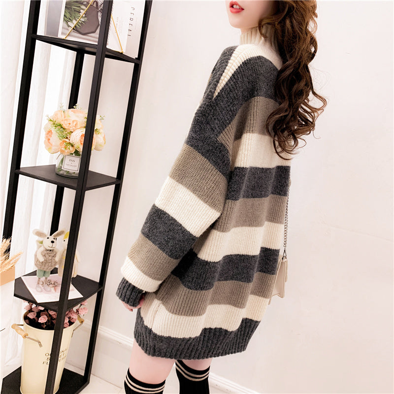 Patterned Oversized Pullover-Sweater-[korean fashion]-[korean clothing]-[korean style]-SOO・JIN