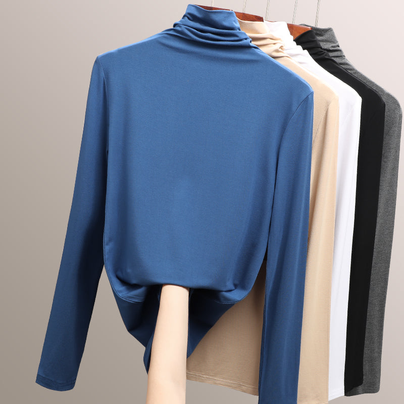 A12M Soft High-collar Long Sleeved  Top