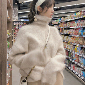Fleece Turtleneck Thickened Soft Sweater