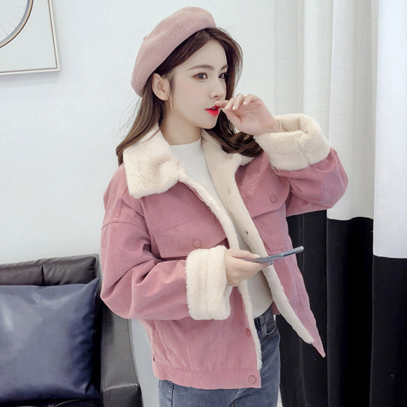 Soft Warm Velvet Coat