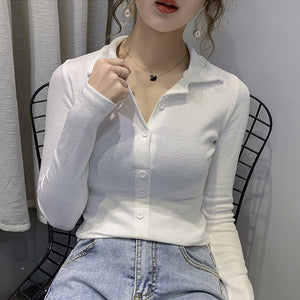 A34H Half Open Collar Slim Soft Shirt