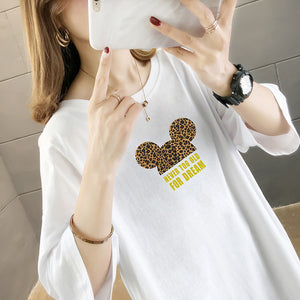 Loose Mid-Length Dream Printing T-Shirt