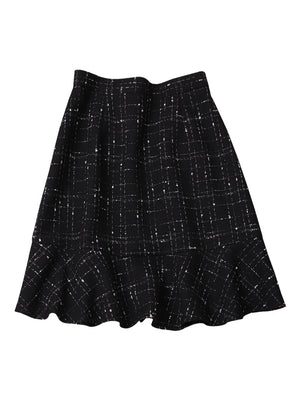 A21L Ruffled High Waist A-line Skirt