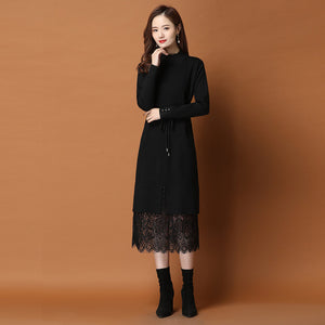 Resin Fixing Lace Dress