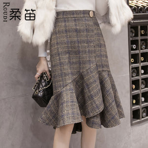 A18V Soft Flute High Waist Skirt