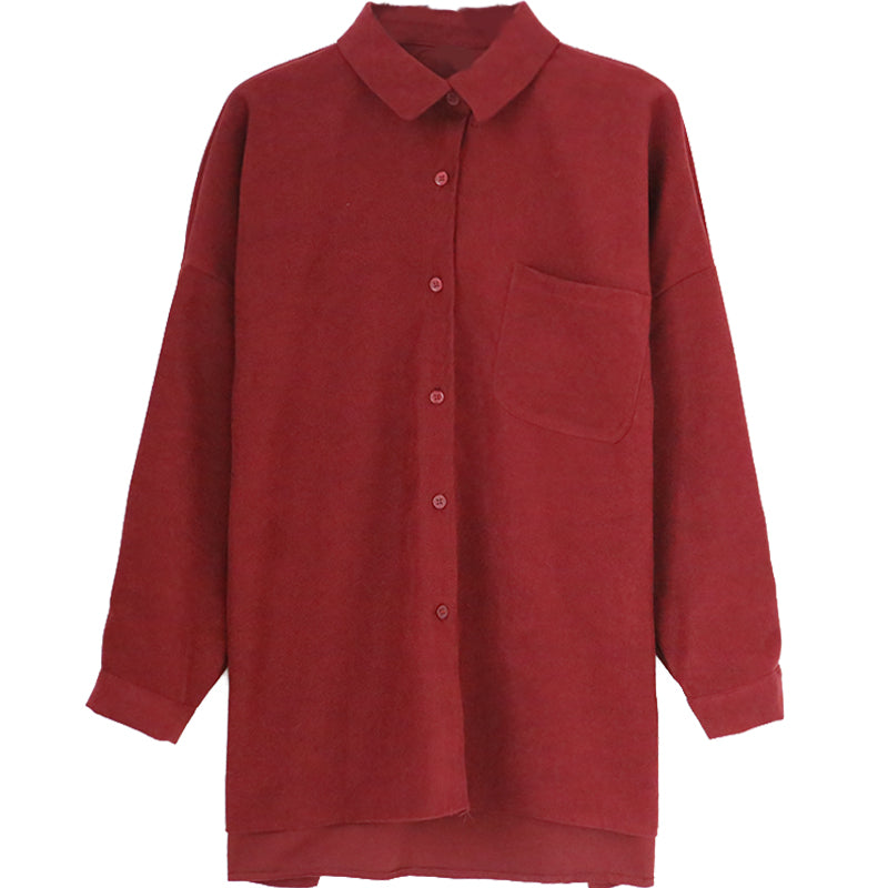 A15V Loose Long-Sleeved Women's Blouse