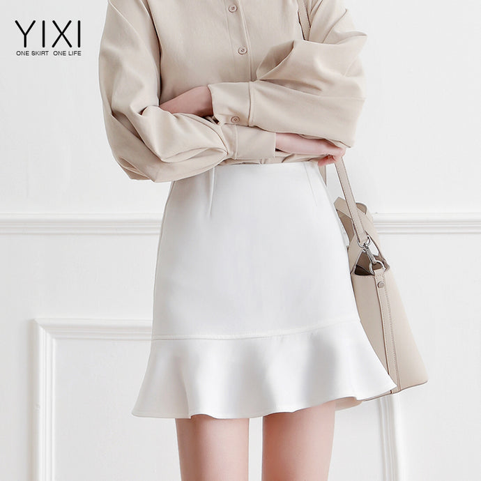 Simple Style Ruffle Mini Skirt-Bottoms-[korean fashion]-[korean clothing]-[korean style]-SOO・JIN