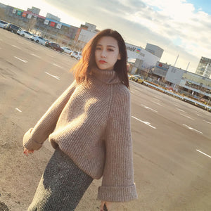 A31H Turtleneck Loose Sleeve Sweater