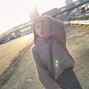Turtleneck Loose Sleeve Sweater