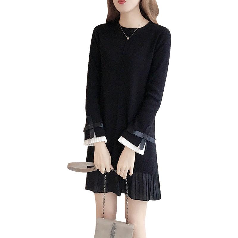 A12C Two-Bottoming Lotus Sleeve Pullover
