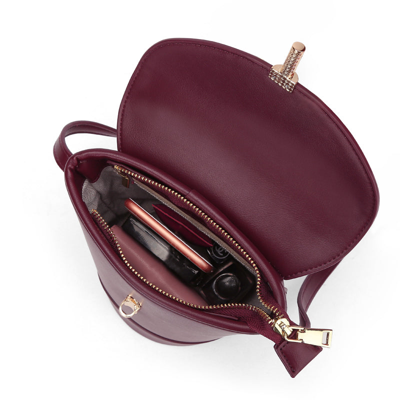 A32D Three-dimensional Round Women's Bag