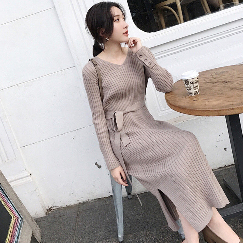 Knee-Length  Hitz Female Knitted Sweater