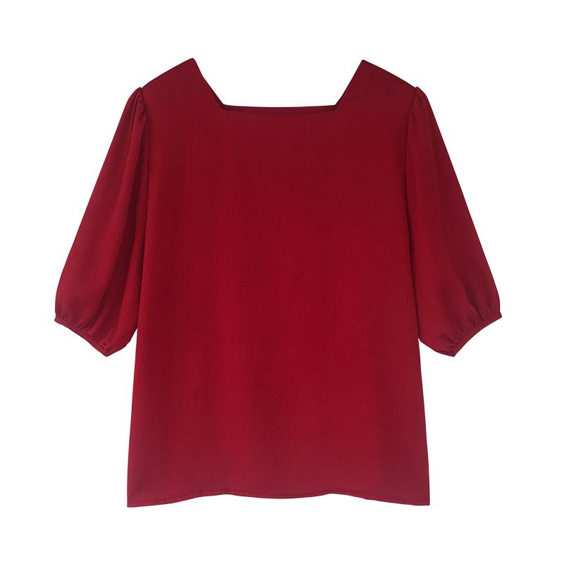 A26T Short-sleeved Chiffon Top