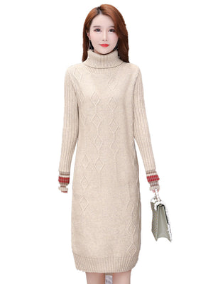 A17O High-necked Collar Dress