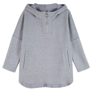 Super-flame Loose Hooded Sweater