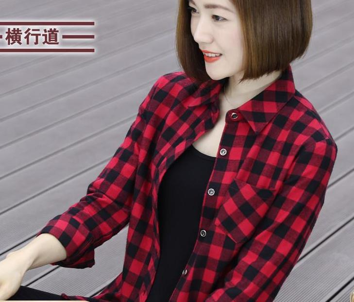 2019 Checked Shirt Jacket-Blouses & Shirts-[korean fashion]-[korean clothing]-[korean style]-SOO・JIN