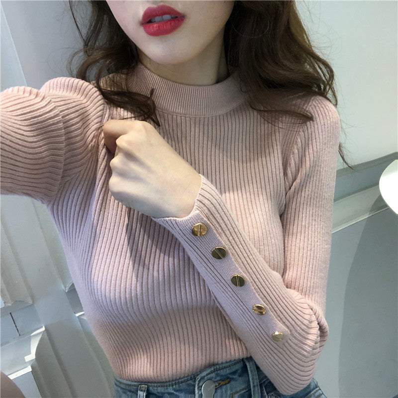 A11H Turtleneck Long-Sleeved  Pullover