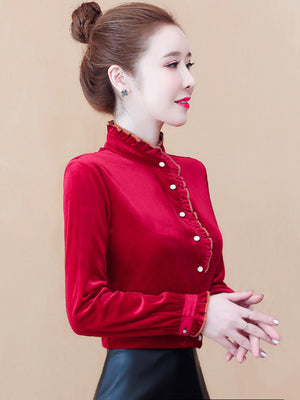 A20L Semi-high-necked Fashionable Shirt Winter 2020