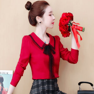 A13H Doll Collar Long-sleeved Base Shirt