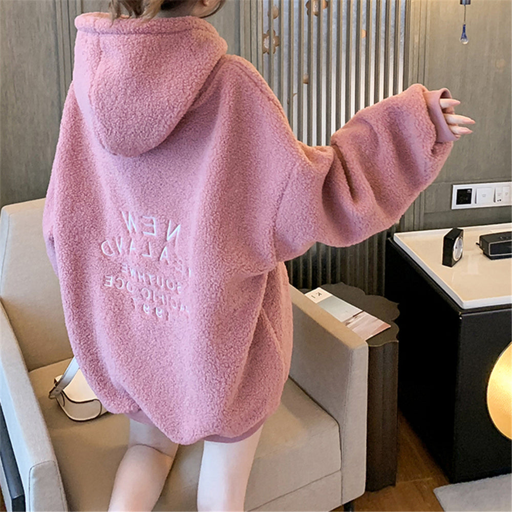 A36i Letters Style Hooded Loose Pullover