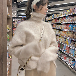 A30A Fleece Turtleneck Thickened Soft Sweater