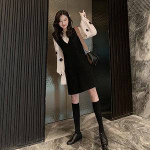 Two-Set Set Loose Sleeve Dress