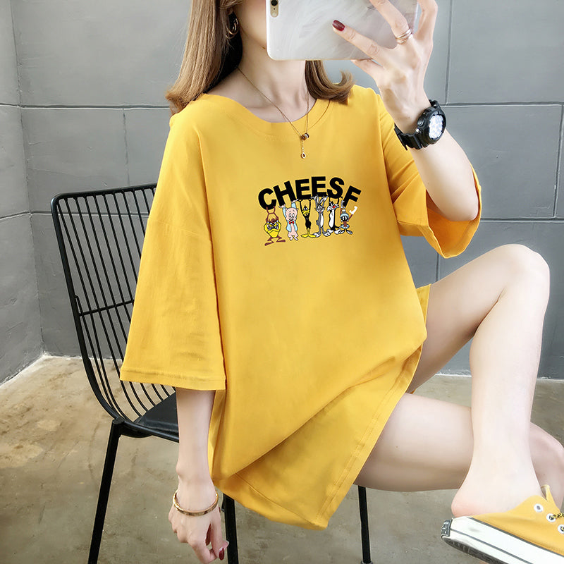 A30W Cartoon Short-Sleeved Slim T-Shirt