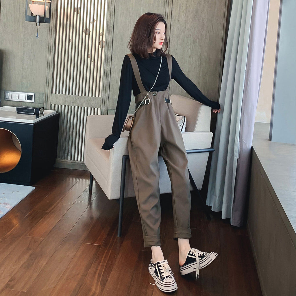 A27A Casual Wide-leg Pants Two Sets Top