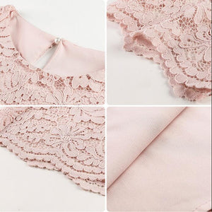 A26V Mid-length short-sleeved Lace Top