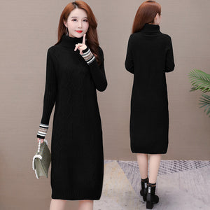 High-necked Collar Dress