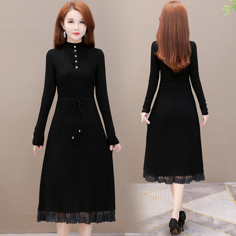 A16Z Over the Knee Sweater Base Dress
