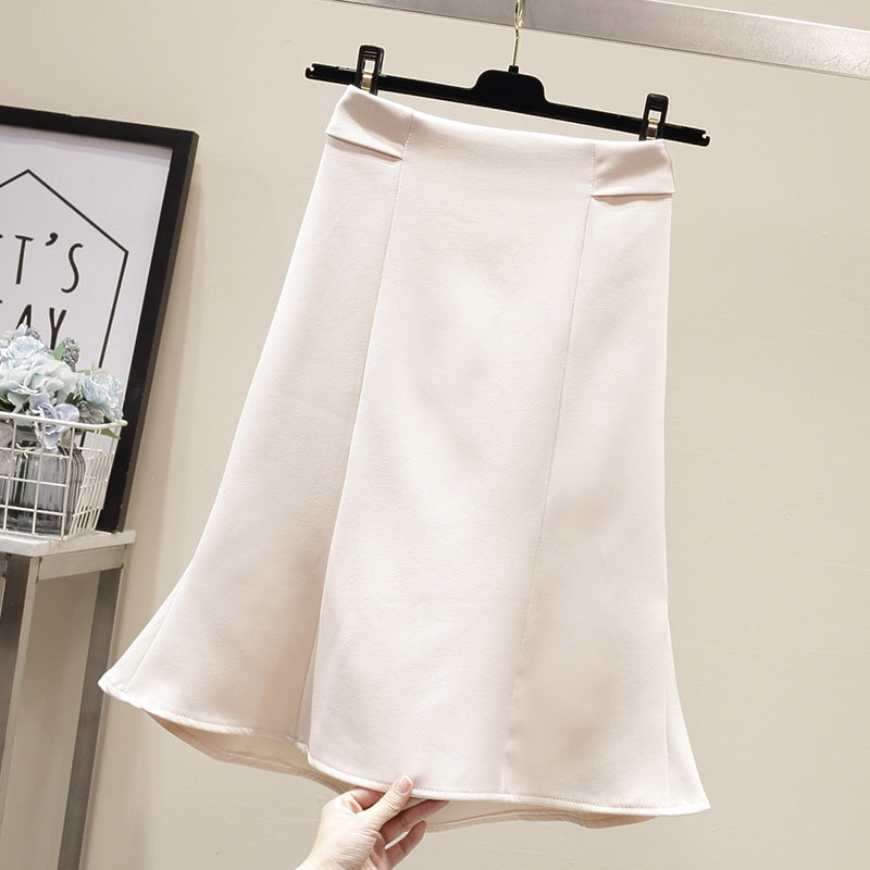 Ruffle & Pleats Skirt-Bottoms-[korean fashion]-[korean clothing]-[korean style]-SOO・JIN