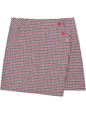 A21K Hounds-tooth woolen Short Skirt