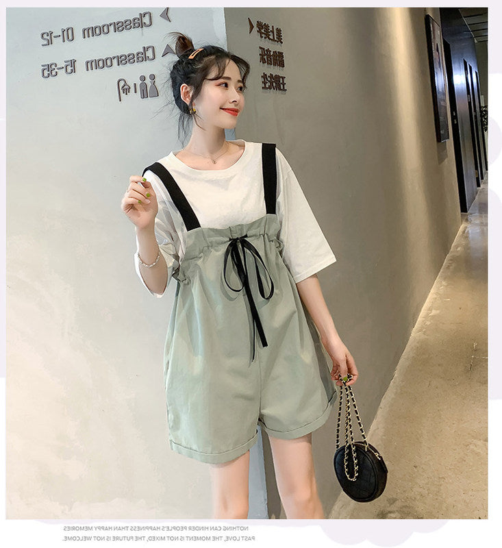 Siamese Overalls Casual Two-piece Suit