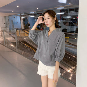 Conventional Sleeve Stand Collar Top
