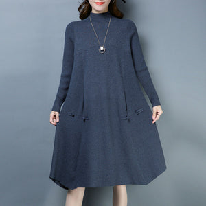 Big Red Knitted Sweater Dress