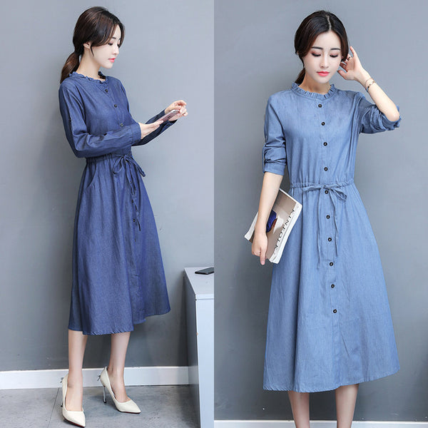 Blouse Style Denim Dress