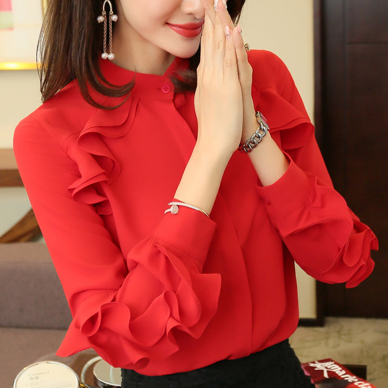 FLOUNCE Fashion Top-Blouses & Shirts-[korean fashion]-[korean clothing]-[korean style]-SOO・JIN