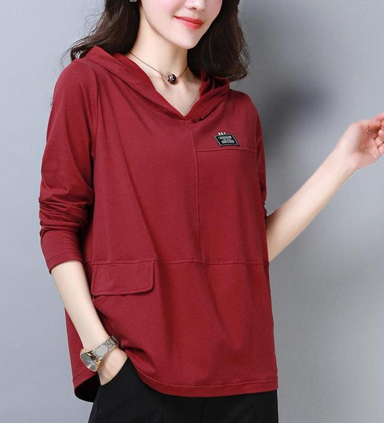 Solid Light Wear Hoodie - korean clothing and fashion