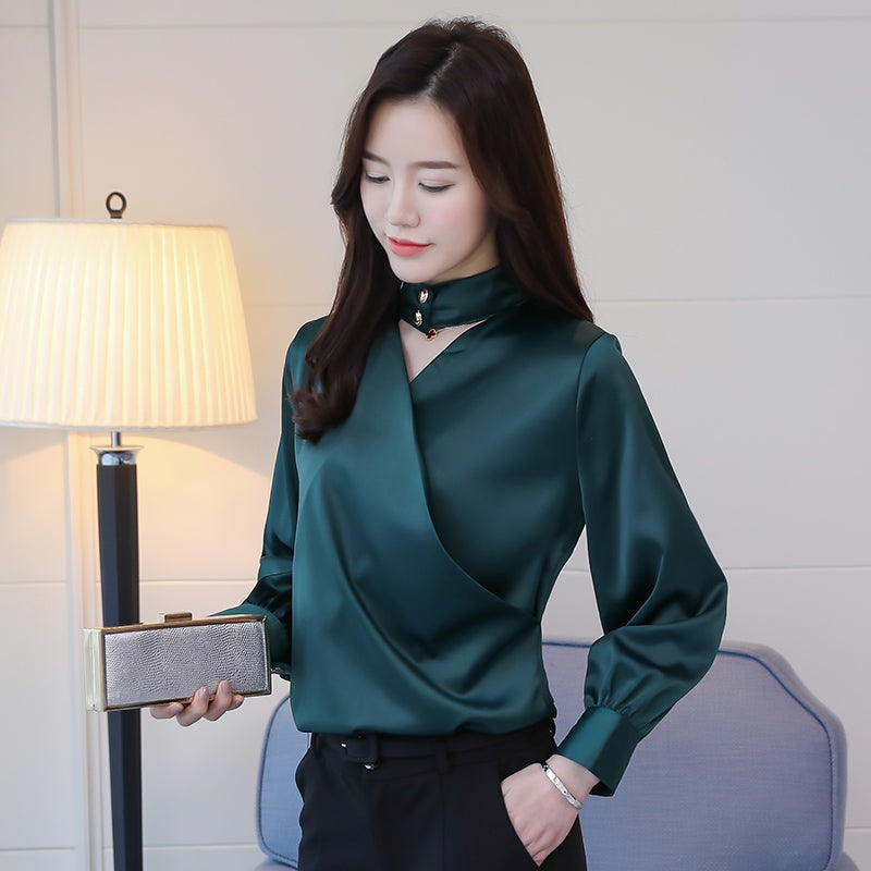 2019 Cross & Cover Blouse-Blouses & Shirts-[korean fashion]-[korean clothing]-[korean style]-SOO・JIN