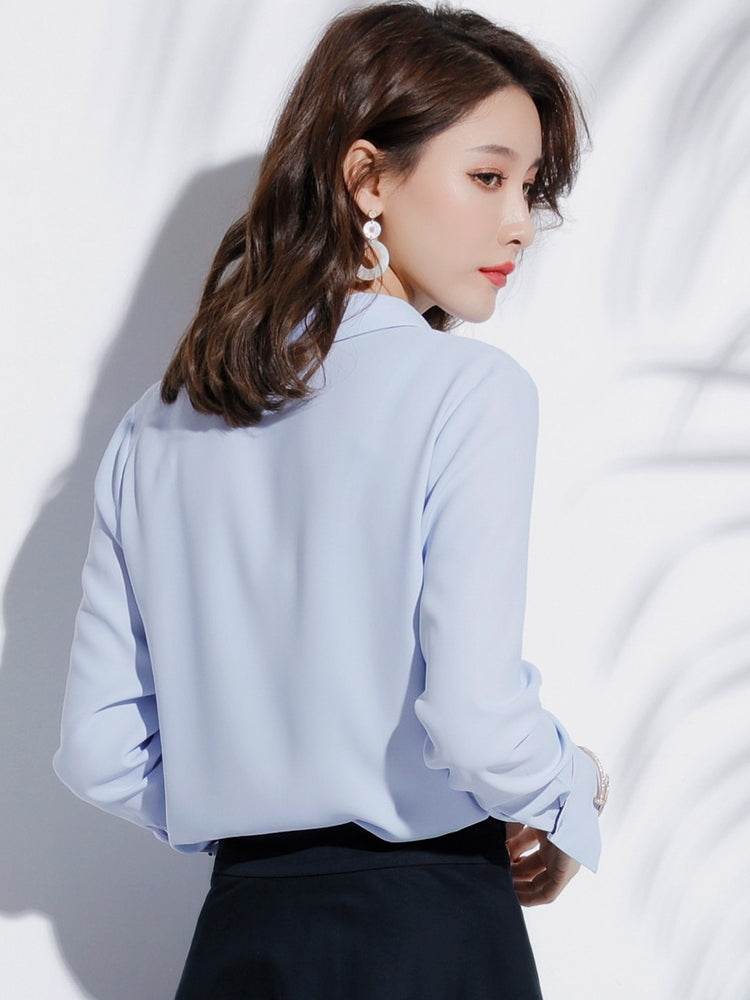 Double Lined Placket Shirt-Blouses & Shirts-[korean fashion]-[korean clothing]-[korean style]-SOO・JIN
